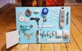 Бизиборд планшет большой голубой (60*40 см)
