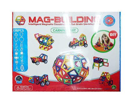 Магнитный конструктор Mag-Building 138 деталей - купить недорого в Москве в интернет-магазине