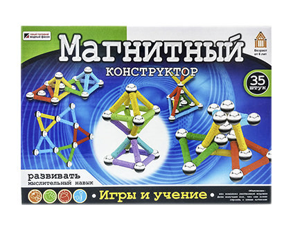 Магнитный конструктор Mag-Building 35 деталей - купить недорого в Москве в интернет-магазине