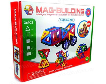 Магнитный конструктор Mag-Building 36 деталей - купить недорого в Москве в интернет-магазине