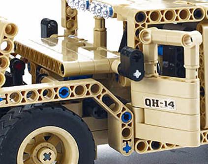 Радиоуправляемый конструктор военный джип QiHui Technics QH8014 502 детали - купить недорого в Москве в интернет-магазине