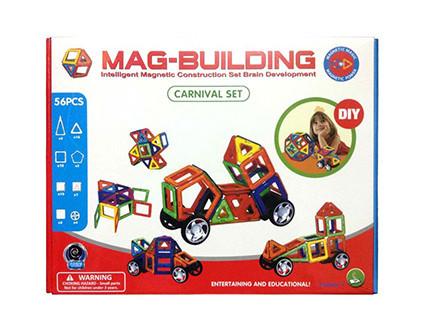 Магнитный конструктор Mag-Building 56 деталей - купить недорого в Москве в интернет-магазине