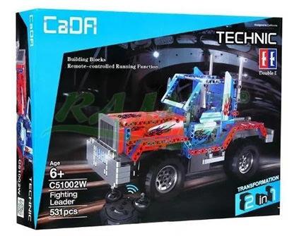 Радиоуправляемый конструктор 2 в 1 тягач/внедорожник Cada Technic C51002W - купить недорого в Москве в интернет-магазине